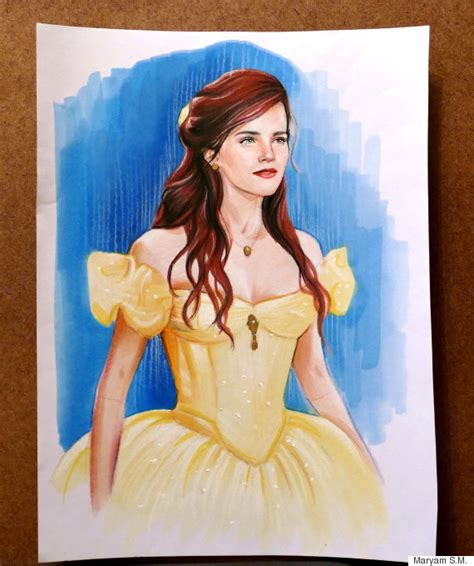 belle film emma watson this is what emma watson could look like as belle in
