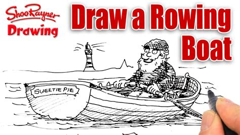 how to draw a rowboat how to draw a rowing boat easily spoken tutoria youtube
