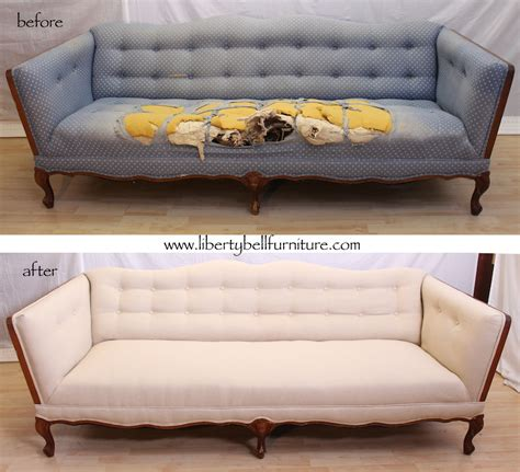 Can A Leather Sofa Be Reupholstered In Fabric by Liberty Bell Furniture Repair Upholstery Semi Tufted