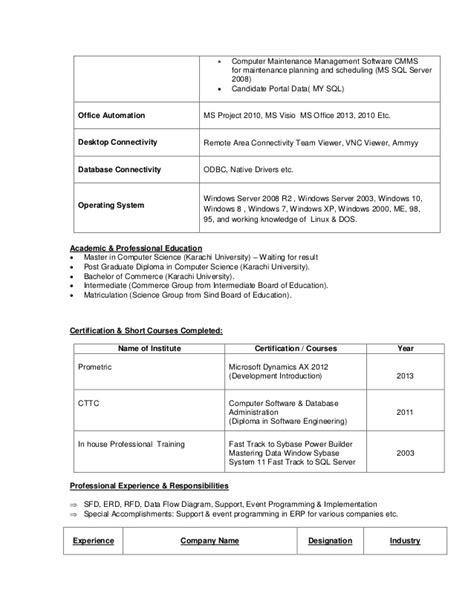 Dynamics Ax Developer Cover Letter by Dynamics Ax Resume Resume Ideas
