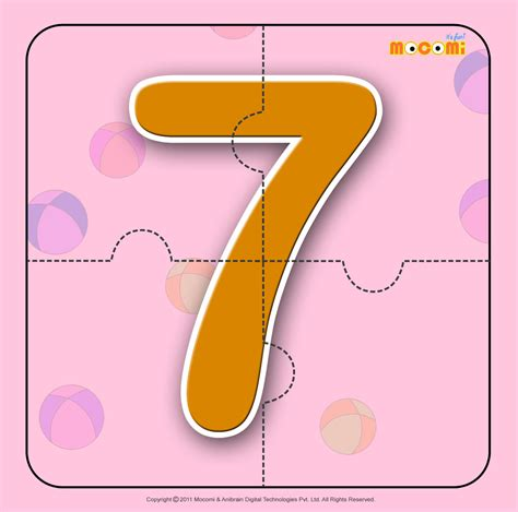 7 Activities For Children by Number Seven 7 Number Jigzaw Puzzles For Mocomi