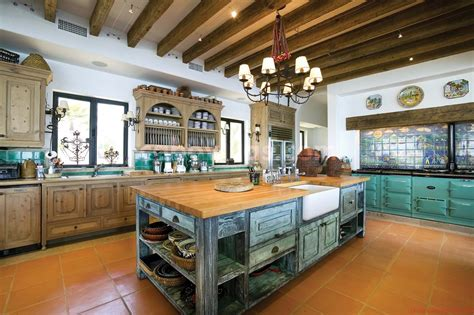 spicy mexican contemporary kitchens decorated with rustic
