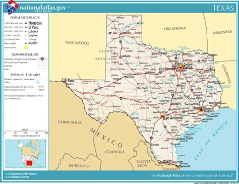 geography map of texas united states geography for texas