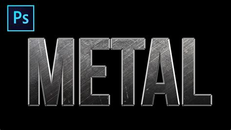 metal logo design photoshop realistic metal text effect