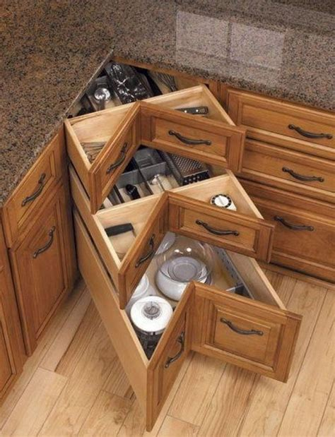 Corner Cabinet With Drawers by Kitchen Corner Cabinet Storage Ideas 2017