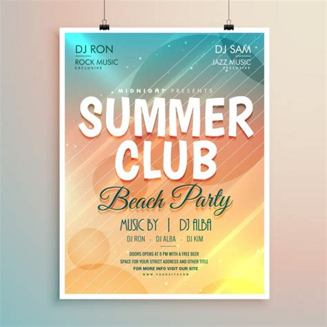 party flyer design kostenlos sommer strand party banner flyer vorlage design download