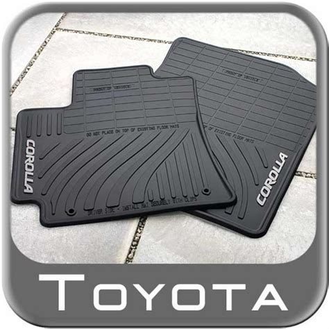 Toyota Corolla 2013 Floor Mats by 2009 2013 Toyota Corolla Rubber Floor Mats All Weather Black