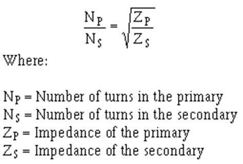 transformer impedance formulas impedance considerations for lifiers