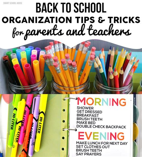 organization tips for school back to school organization
