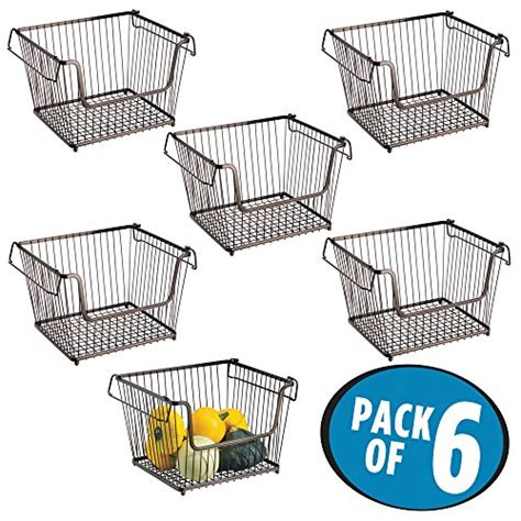 Jaguar Kitchen Baskets Price by Mdesign Open Wire Storage Basket For Kitchen Pantry