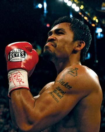manny pacquiao tattoo manny pacquiao biography facts notable fights