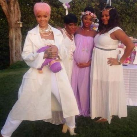 Who Attends Baby Showers by Rihanna Attends Cousins Baby Shower Paperblog