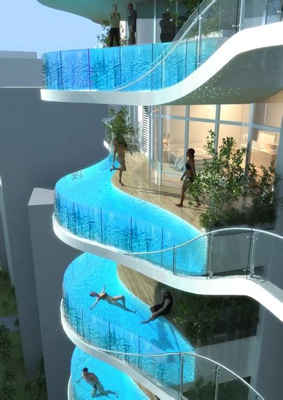 cool swimming pools my pinterest interests really cool balcony swimming pool