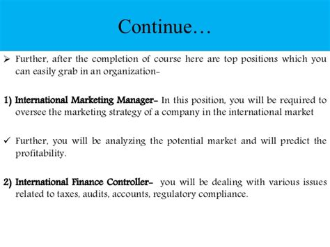 Career Opportunities After Mba In International Business by Post Graduation In International Trade Management Scope