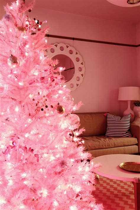 awesome pink christmas tree ideas homemydesign