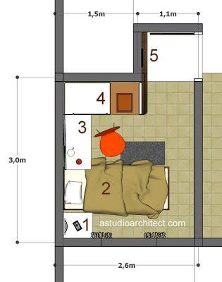 konsep kamar tidur anak dengan area belajar