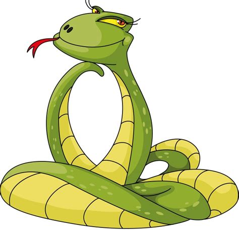Year Of Snake 03 流し目のヘビ 干支 巳 無料ベクターイラスト素材 all free clipart