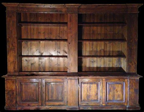 libreria antiquariato libreria realizzata con tavole di legno antico