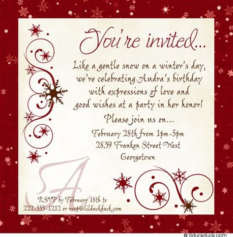 woman s birthday lunch invitation winter party chic
