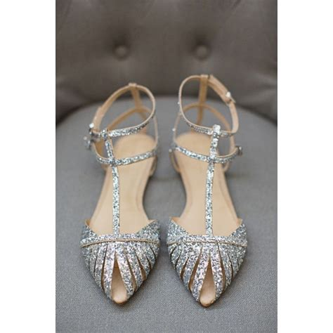 Silver Wedding Shoes For Bridesmaids by Silver Wedding Flats T Glitter Shoes For Bridesmaid