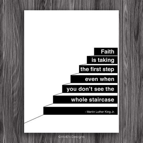 printable mlk quotes faith is taking the first step martin luther king quote