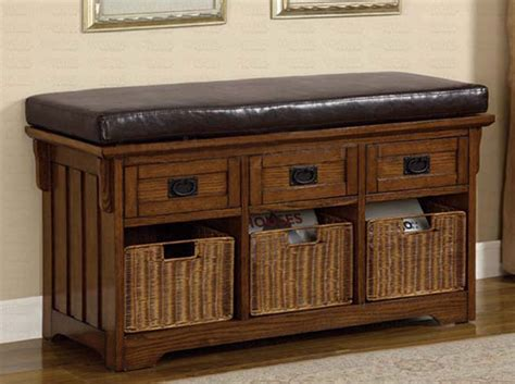 dark oak high storage bench benches