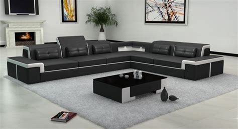 Black Leather Sofa Living Room Design by Living Room Amazing Designs Of Sofas For Living Room