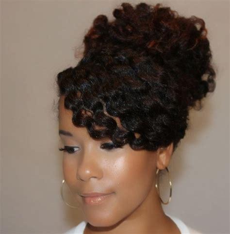 natural hair bun styles with bang natural hair diy 5 back to school inspired styles the
