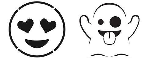 emoji free pumpkin stencils popsugar tech photo 1