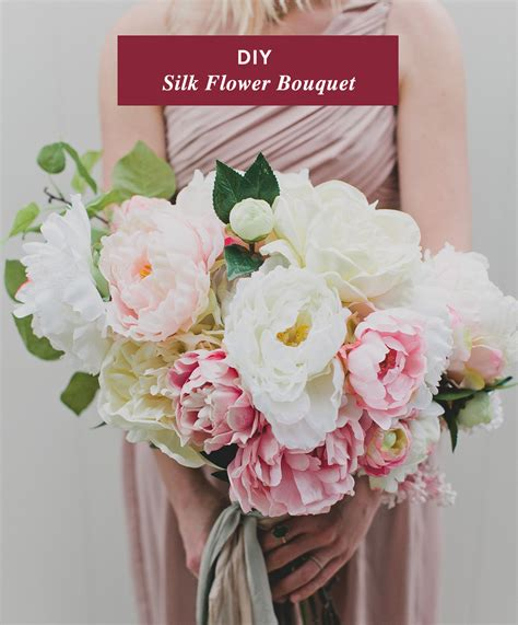 How To Make A Bouquet Of Flowers With Paper - diy silk flower bouquet with afloral green wedding shoes
