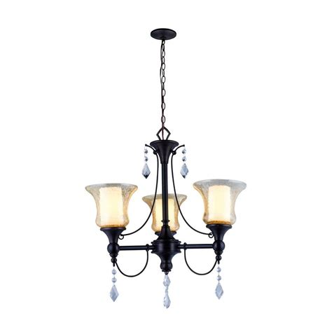 World Imports Chandelier World Imports Ethelyn Collection 3 Light Rubbed Bronze Chandelier With World