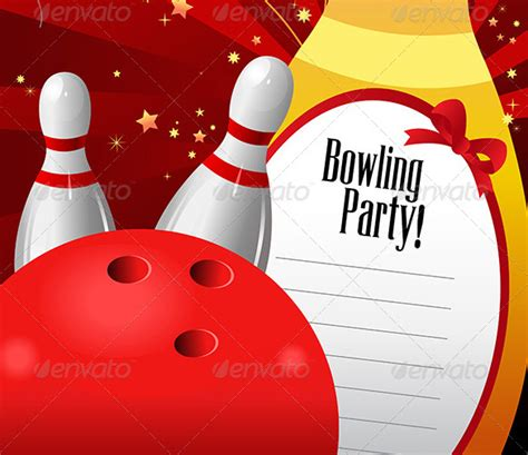 bowling pin invitation template 15 outstanding bowling invitation templates designs