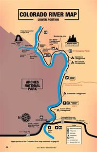 colorado river map free guestguide travel leisure
