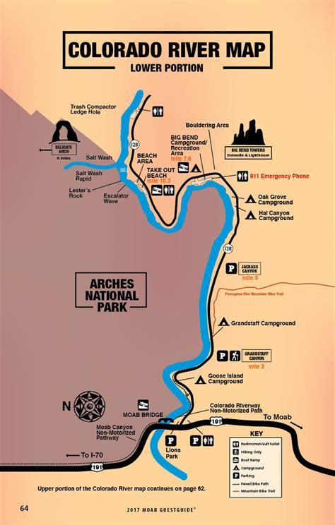 grand map colorado river colorado river map free guestguide travel leisure