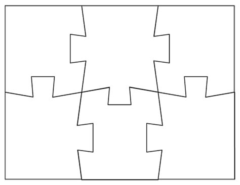 template for puzzle pieces free coloring pages of 6 pieces puzzle