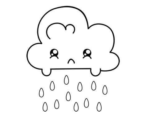 imagenes para pintar kawai desenho de nuvem kawaii para colorir colorir com