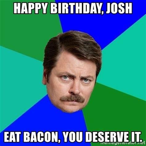 Gay Happy Birthday Meme - happy birthday ron swanson meme