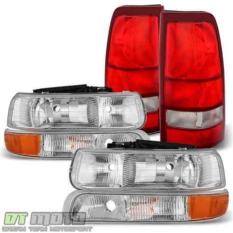 6pc 1999 2002 Chevy Silverado 1500 2500 3500 Headlights