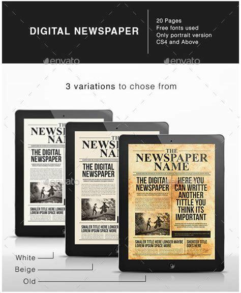 Digital Newspaper Template by Newspaper Template 42 Free Documents In Pdf