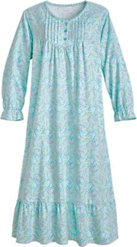 floral flannel gown cotton nightgown  pockets