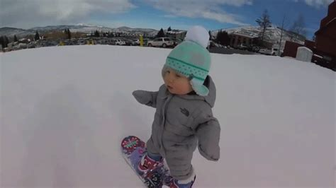 1 year skiing this adorable 1 year snowboarding baby is a future