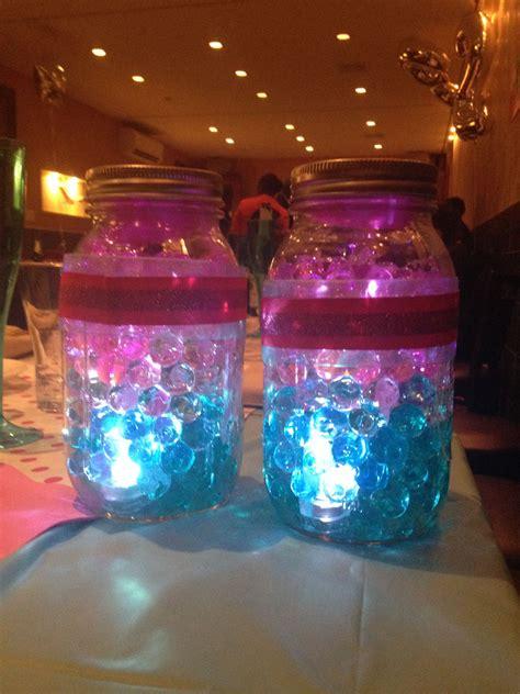 jar centerpiece with water wedding