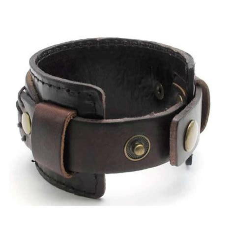 leather cuffs for jewelry konov jewelry wide genuine leather mens bangle cuff