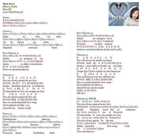 Letter To Japan Lyrics Hikaru Utada Letter Notation With Lyrics For Flute Violin Recorder Etc