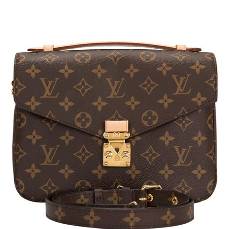 louis vuitton pochette metis monogram brown coated canvas