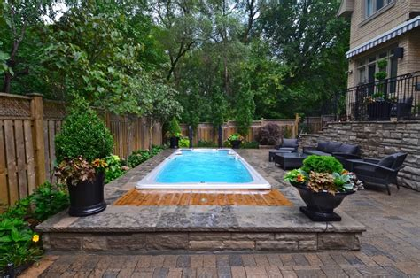 Landscape Designs For Backyards Swim Spa A Little Piece Of Swimming Heaven