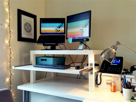 Ikea Lack Standing Desk with Make A Standing Desk From An Ikea Lack Table Lifehacker Australia