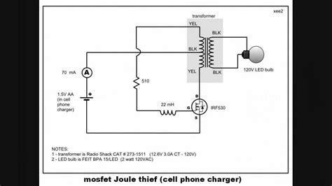 transistor untuk joule thief joule thief using mosfet