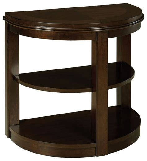 furniture accent tables standard furniture spencer half moon chair side table in