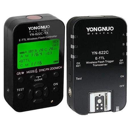 Trigger Yongnuo yongnuo yn 622c tx wireless e ttl flash trigger kit with led for canon cameras yn 622c kit